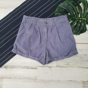 American Eagle  Corduroy Mom Shorts Purple Size 6